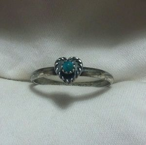 Genuine Turquoise Ring, Size 8